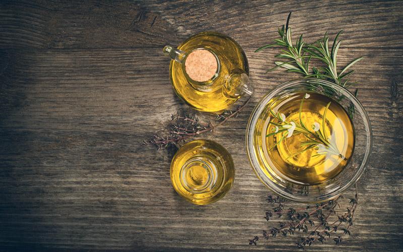 aceite de oliva para receta de pollo con verduras