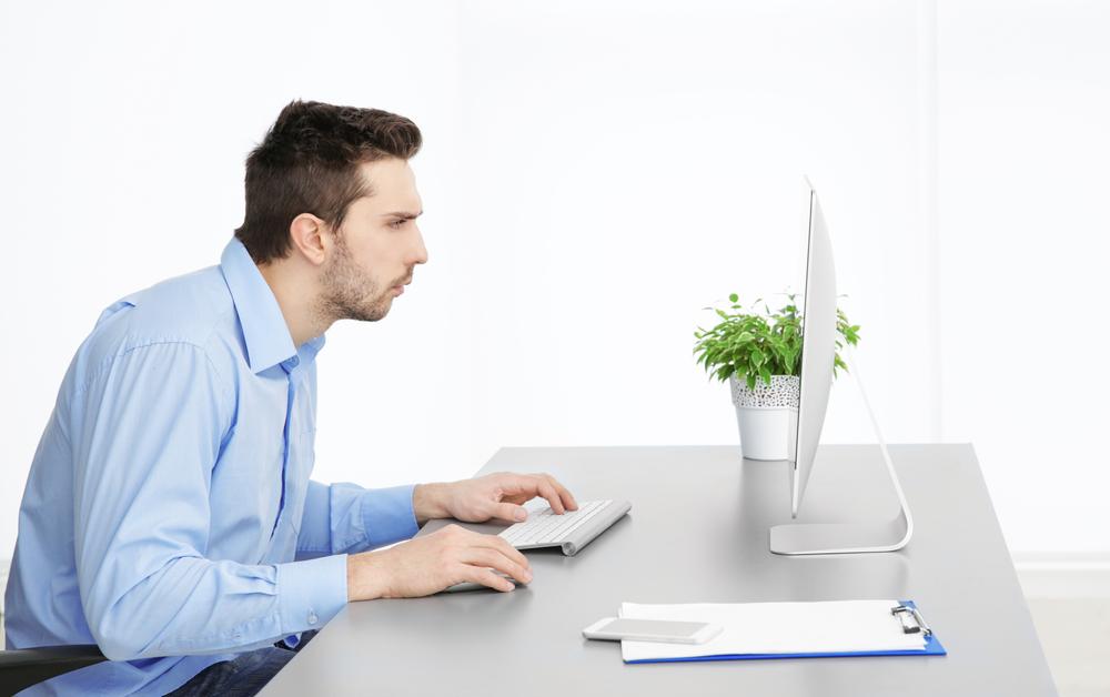 Postura incorrecta del escritorio