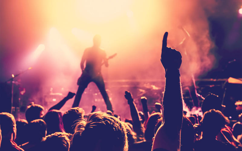 Silueta de banda de rock