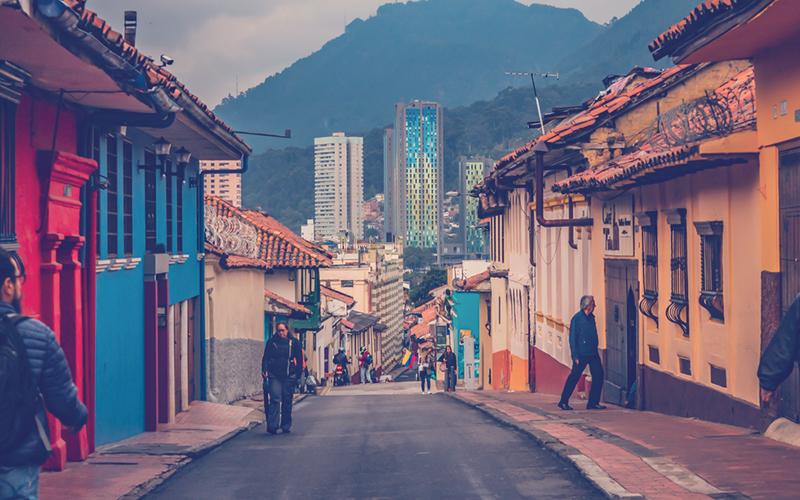 Calle de la Candelaria en Bogotá