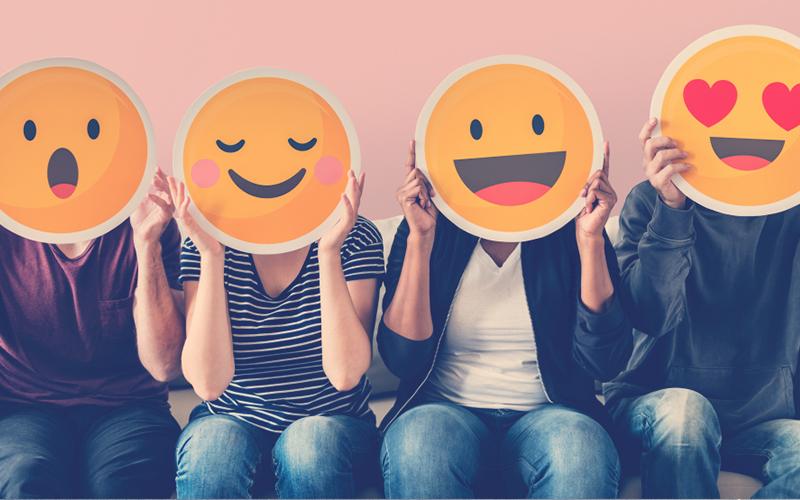 Emoticones que expresan diferentes emociones