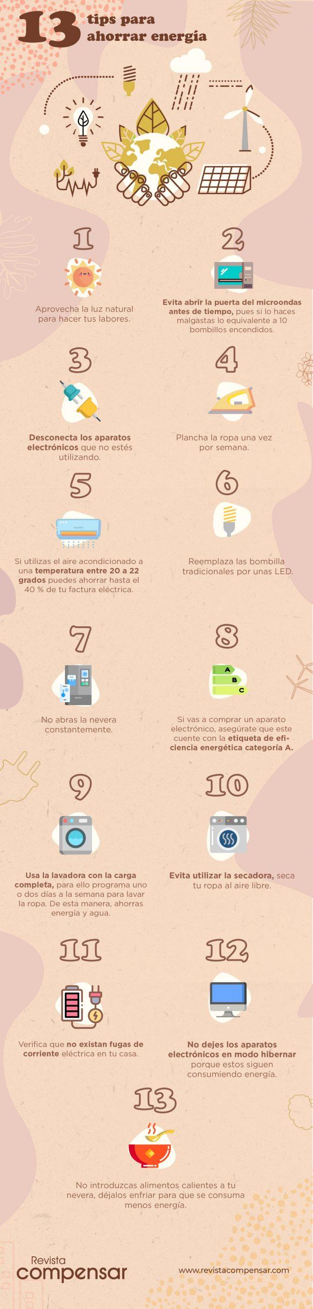 13 tips para ahorrar energía