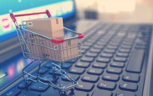 carrito de mercado añadido a compra online