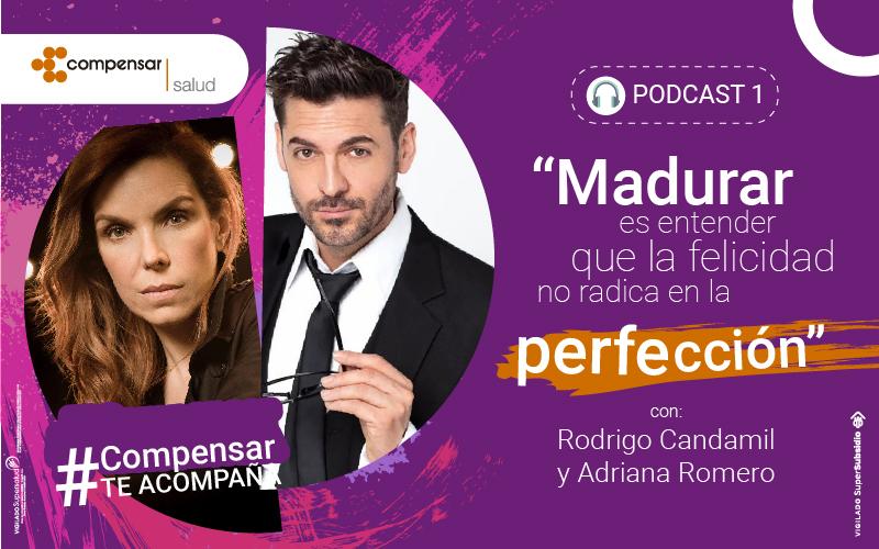 Rodrigo Candamil y Adriana Romero en Compensar Te Acompaña