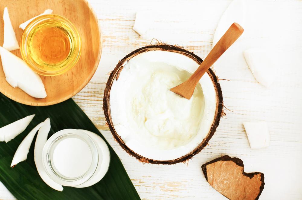 Crema de coco para cabello seco