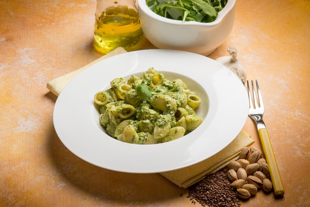 Pasta con pesto pistacho