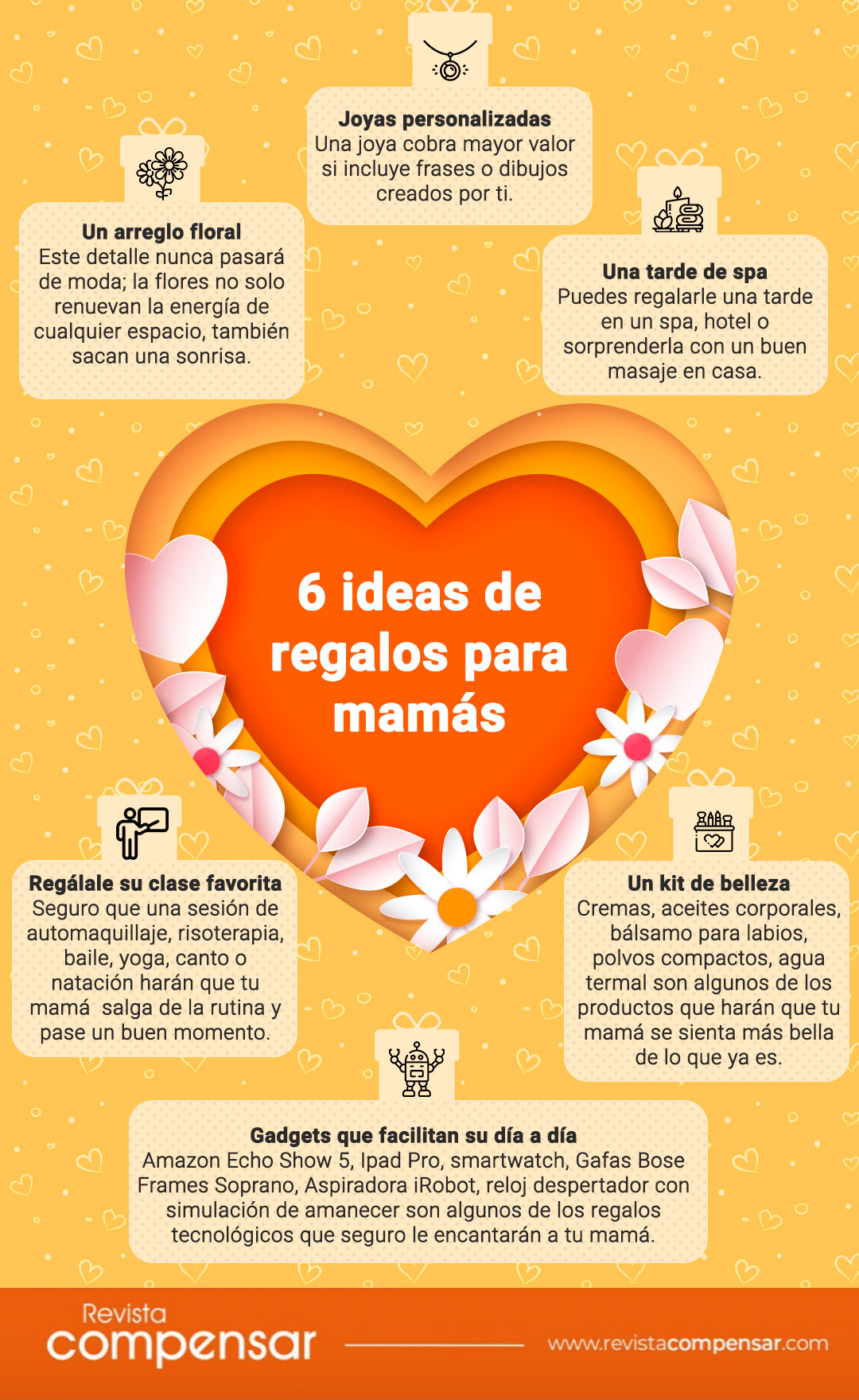 6 ideas de regalos para mamás