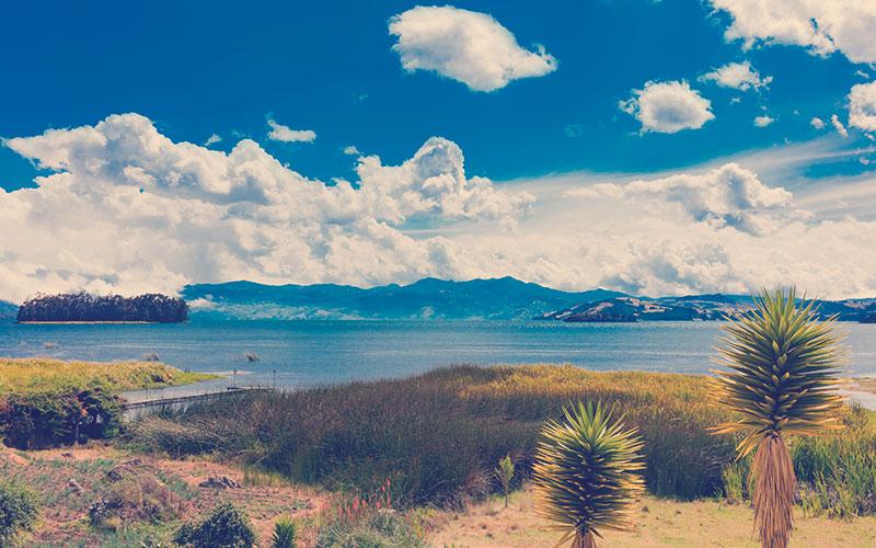 Laguna de Tota Lago Boyaca en Colombia Sudamérica