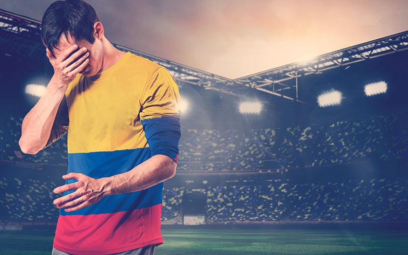 Hincha colombiano triste porque la Selección Colombia perdió