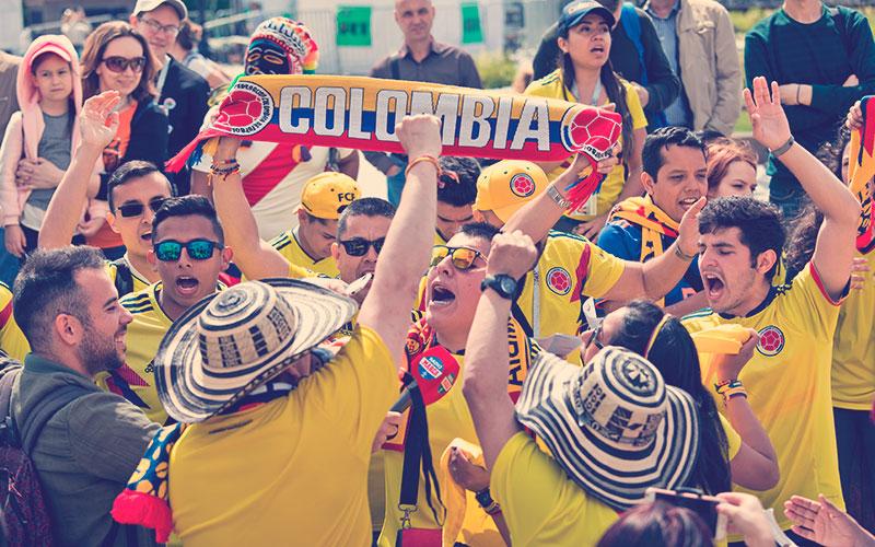 fans de la Selección Colombia en Rusia