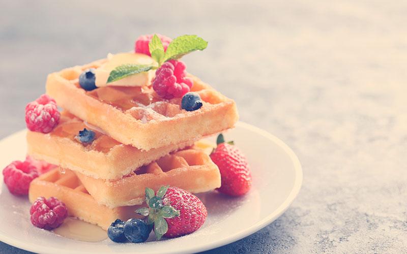 gofres caseros para desayuno de amor y amistad