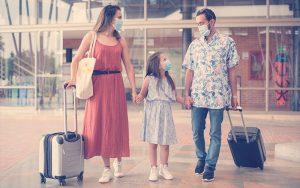Familia llegando a Lagomar para disfrutar vacaciones
